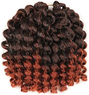 5 Packs Wand Curl Hair 8inch Jamaican Bounce Synthetic Crochet Twist Braids Hair Extension 20strands/pack Xtrend Hair 1B/350#, 5packs/Lot