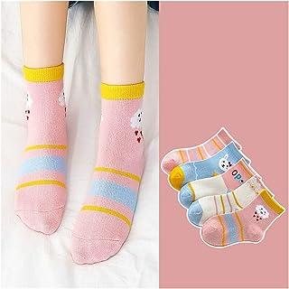 Jfsmgs, Calcetín 5pair / lot niños algodón niños Calcetines de dibujos animados lindo calcetines para niños para chico niña estilo deportivo adecuado para 1-10Y ( Color : 24 , Size : 9 12years )