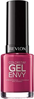 Revlon ColorStay Gel Envy Longwear Nail Polish, with Built-in Base Coat & Glossy Shine Finish, in Plum/Berry, 400 Royal Flush, 0.4 oz