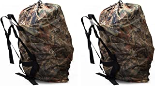 ROCREEK Mesh Decoy Bag for Duck Goose Turkey Waterfowl Hunting with Adjustable Straps