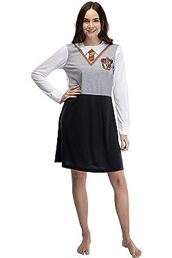 Harry Potter Juniors Hermione Costume Uniform Gryffindor Pajama Nightgown