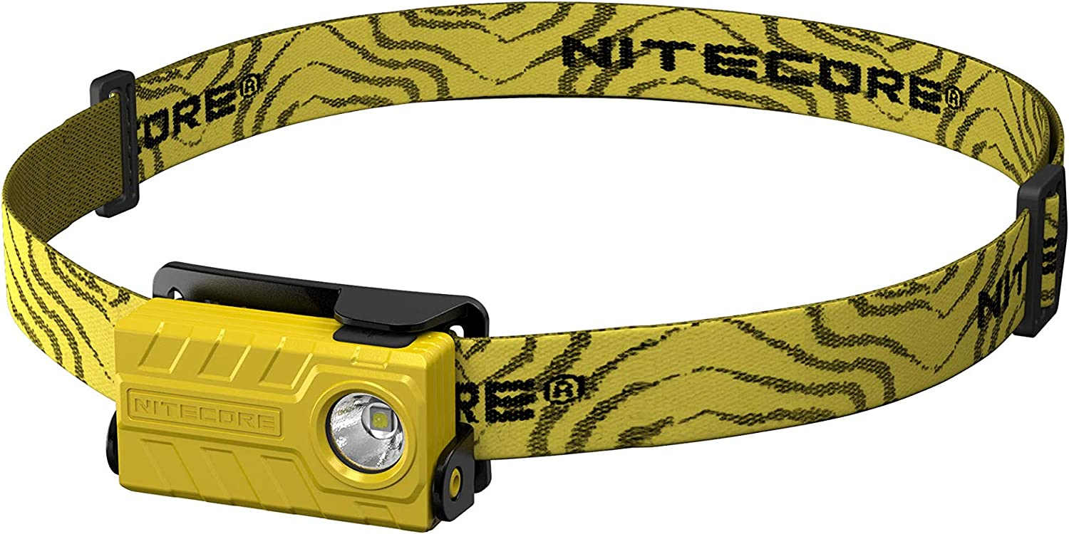Nitecore 9004725 (Sysmax Industrial) Nu20 USB Rechargeable Headlamp, Yellow