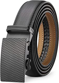 XDeer Leather Ratchet Belts for Men,Sliding Click Belt with Automatic Buckle