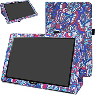 Acer Iconia One 10 B3-A40 Case,Mama Mouth PU Leather Folio 2-Folding Stand Cover with Stylus Holder for 10.1