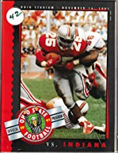 1991 Ohio State vs Indiana Football Program 11/16/1991 Carlos Snow on cover 10