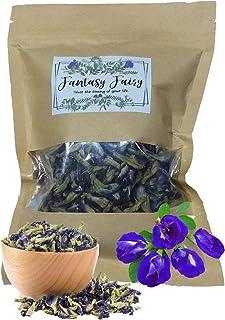 50 grams Organic Dried butterfly pea flower Clitoria ternatea Herbs Herbal healthy tea drink recipes food coloring Antioxidants aging wrinkles