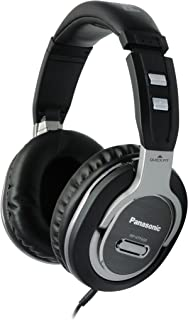 Panasonic Quick-Fit Over-the-Ear DJ Stereo Monitor Headphones RP-HTF600-S (Black & Silver) Lightweight, Comfortable, Powerful Bass
