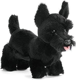 Nat and Jules Standing Small Scottish Terrier Dog Midnight Black Children's Plush Stuffed Animal Toy