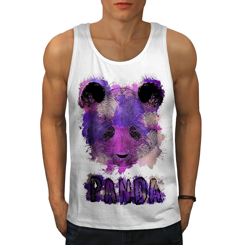 Wellcoda 紫の パンダ スプラッシュ 男性用 S-2XL タンクトップ