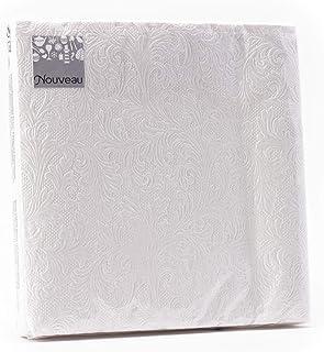 Fiorentina White Pearl Disposable Paper Napkins, 16 Pieces 3 Ply - 33 x 33 cm