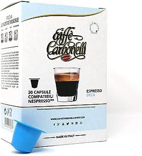 Koffie Carbonelli Compatibel cups Nespresso® - Pakket van 600 capsules smaak Decaffeinato - Cafeïnevrij (20x30)
