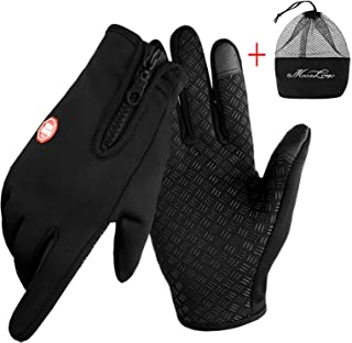 IPENNY Womens Mens Winter Warm Touch Screen Gloves Windproof Waterproof Thermal Gloves Smartphone Texting Hand Warmers Cyc...
