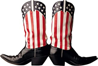"""Paper House Productions 3.75"""" x 2.5"""" Die-Cut Star Spangled Cowboy Boots Shaped Magnet for Refrigerators and Lockers"""