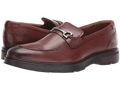 Florsheim Astor Moc Toe Bit Loafer (Cognac Smooth/Borwn Sole) Men