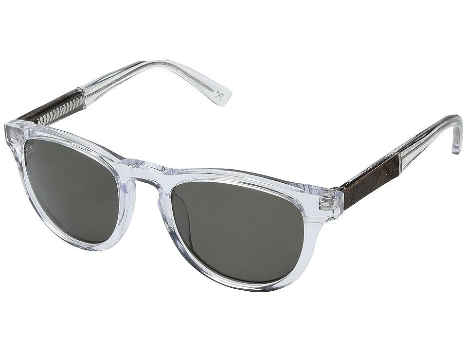 Shwood Francis Acetate Wood (Crystal/Elm Burl/G15) Athletic Performance Sport Sunglasses