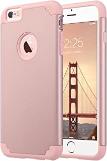 iPhone 6 Plus funda, iPhone 6S Plus funda, ULAK Slim doble capa a los arañazos Funda protectora Fit para Apple Iphone 6 PL...