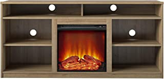 """REALROOMS Vesta Fireplace TV Stand for TVs up to 65"""", Natural"""