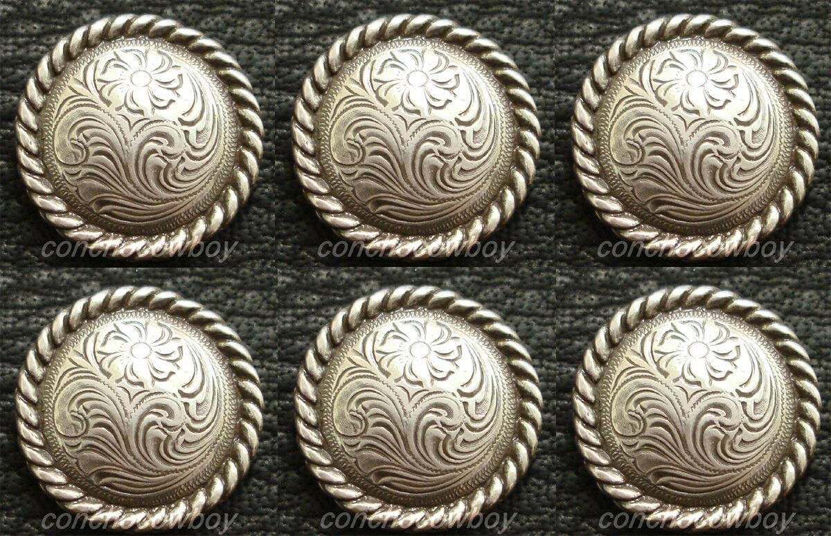 Conchos Leathercraft Accessories Factory outlet Set of Western Saddle Horse 6 2021new shipping free T