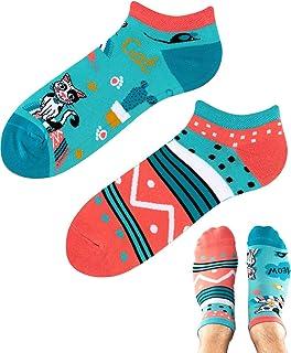 TODO Colours - Calcetines deportivos con diseño de gatos divertidos multicolor para hombre y mujer