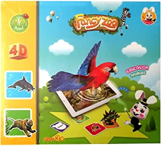 Fancy Zoo AR Flash Cards Fun Education AR Learning Cards 68 pcs
