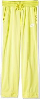 Nike Women's Sportswear Open Hem Shdw Strp Pants, Yellow Pulse/Antique Silver/White, Large (NKAR2295-785)