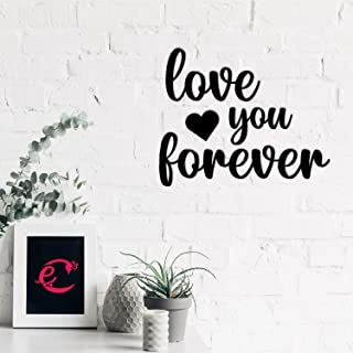 eCraftIndia Love You Forever Black Engineered Wood Wall Art Cutout, Ready to Hang Home Decor