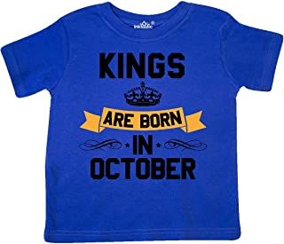 Kings are Born in October Toddler T-Shirt