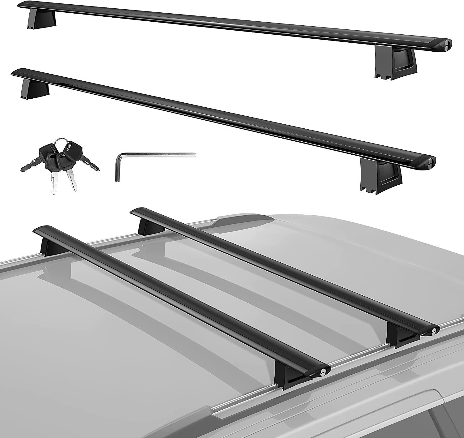MOSTPLUS Roof shipfree Rack Cross Bar for Compatible 100% quality warranty! Gr Jeep Luggage