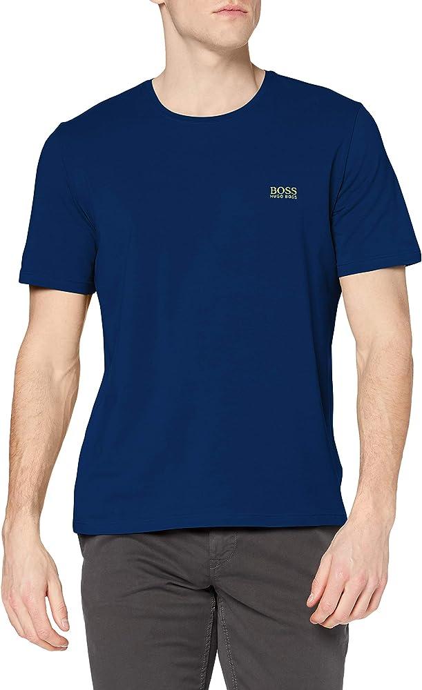 Hugo boss mix&match t-shirt, maglietta per uomo a maniche corte, 95% cotone, 5% elastan, blu2 50381904E