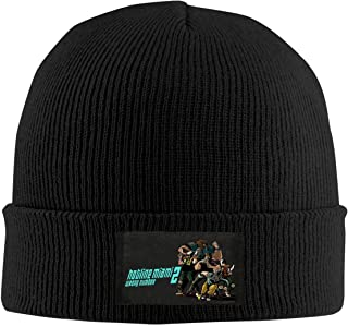 PatriciaANewbury Hotline Miami 2 Wrong Number-1 Winter Warm Men Women Knitted Hat Stretch Slouchy Skull Cap