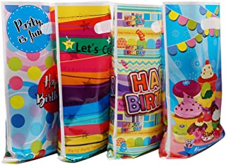 PintreeLand Plastic Birthday Party Favor Bags 48 PCS Party Gift Goody Bags for Kids Birthday