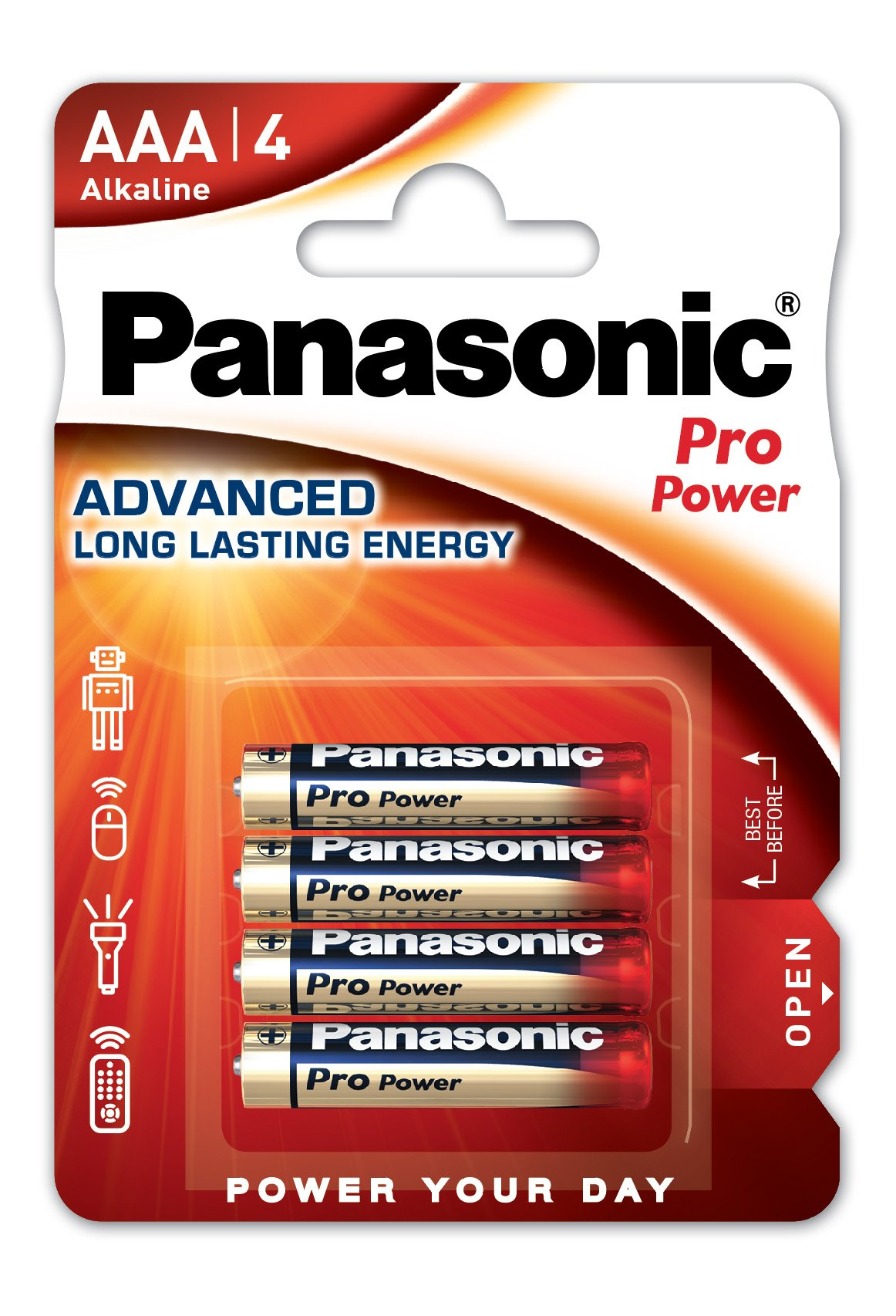 Panasonic Pro Power LR03 AAA - Pack de 4 Pilas alcalinas: Amazon.es: Electrónica