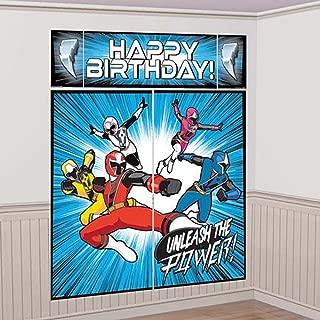 Ninja Power Rangers Steel' Wall Poster Decorating Kit (5pc)