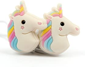 DURAGADGET Cute in-Ear 3D Cartoon Emoji Rainbow Unicorn Earphone Headphones - Compatible with Huawei Ascend P6 Unlocked Smartphone 1.5GHz Quad core K3V2E 6.18mm Thickness & LG G2