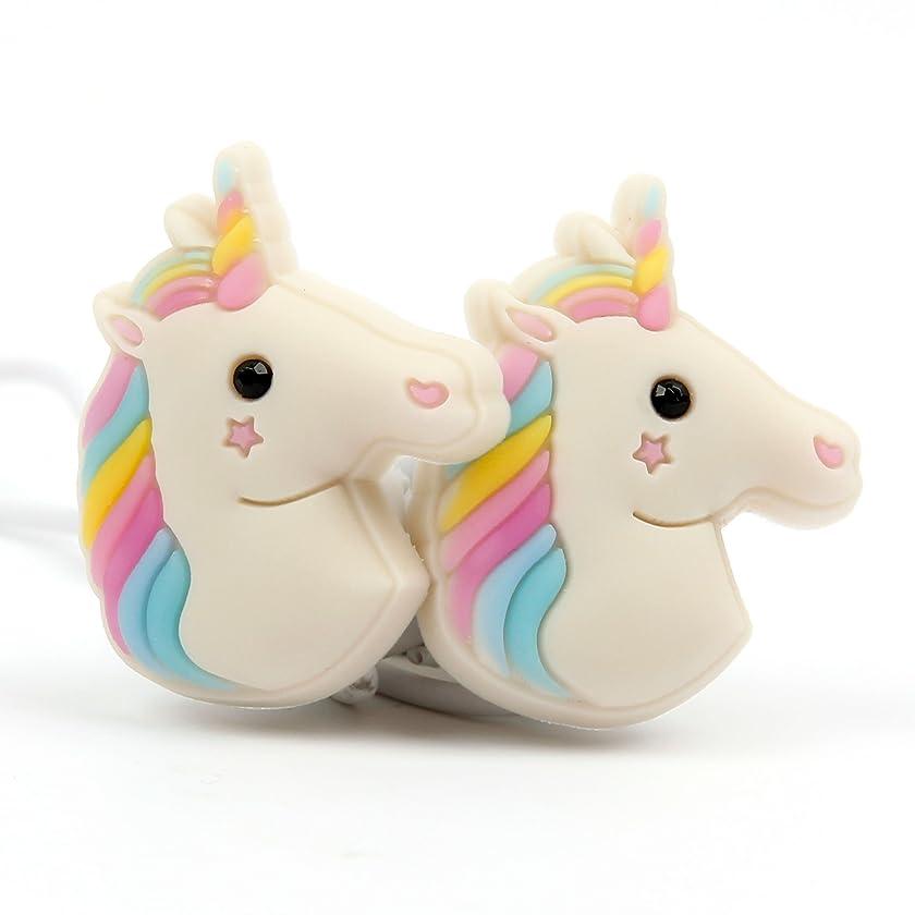 DURAGADGET Cute in-Ear 3D Cartoon Emoji Rainbow Unicorn Earphone Headphones - Compatible with Huawei Ascend P6 Unlocked Smartphone 1.5GHz Quad core K3V2E 6.18mm Thickness & LG G2