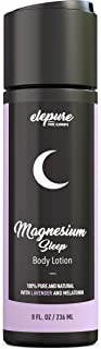 Magnesium Sleep Lotion with Lavender and Melatonin - Topical Application Night Cream for Sleep Aid- High Potency - Organic Materials - Large Size - Great Value - 8 fl. oz