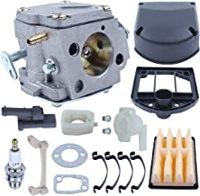 Adefol Carburetor for Husqvarna 268 266 272XP Chainsaw with Bracket Air Filter Intake Manifold Gasket Spark Plug Elbow Grommet Replaces Parts 503280316 503446901 503446801 503447203