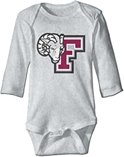 HYRONE Fordham University F Logo Baby Bodysuit Long Sleeve Climbing Clothes Ash