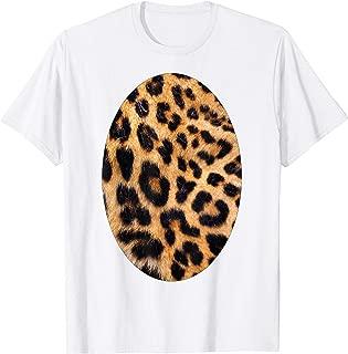 Cute Halloween Leopard Tiger Costume Belly Shirt