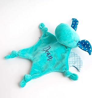 Security Blanket Mini Blankie Animal Dragon Toy Baby Boy Monogram Gift