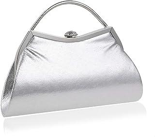 Clutch Handbag Women's Banquet Evening Crossbody Bag Bridal Dance Shoulder Bag Party Golden Wallet Silver Pocket (23 X 5 X 17cm)