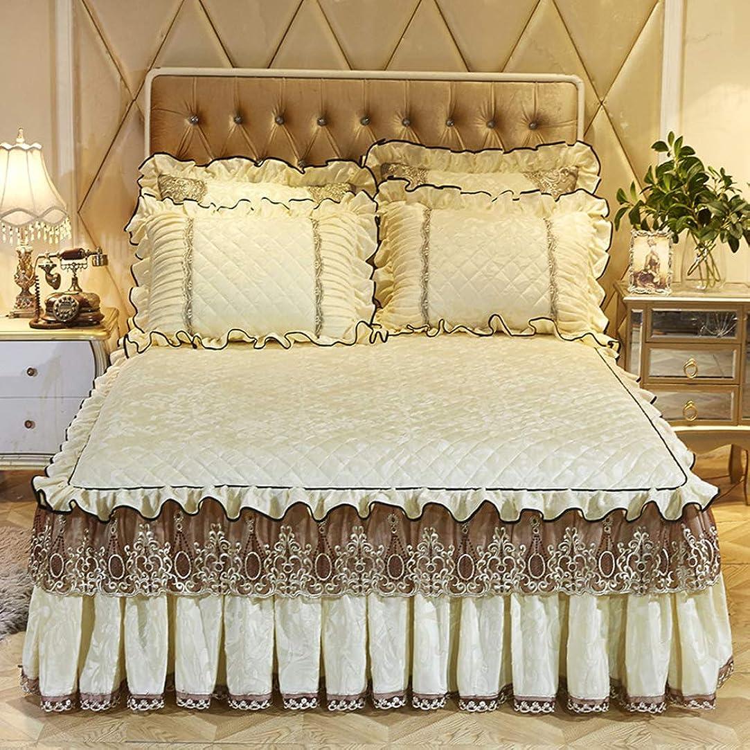 裂け目告白拡張ALHBNAY キープ 暖かい キルト ベッドスカート ベッドスプレッド 厚手 プラス コットン フランネル 寝具 枕カバー 2枚 150x200cm(59x79inch) JHGDEQNCZ