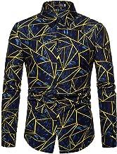 Sportrendy Men's Casual Long Sleeve Button Down Dress Shirts Tops JZA452
