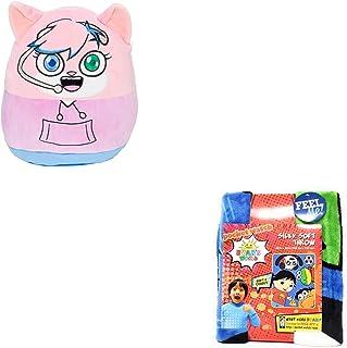 "JGT Boys Girls Kids Squishmallows Kellytoy Ryan's Ryan Ryans (1) Alpha Lexa Pocket Watch Squishmallow 12"" Super Soft Plush Toy Pillow (Bonus: Mystery Squishy Figure) (1) Silky Soft Throw 40""x50"""