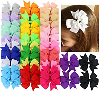 40Piece Boutique Grosgrain Ribbon Pinwheel Hair Bows Alligator Clips For Girls Babies Toddlers Teens Gifts In Pairs