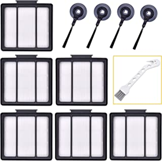 Sauberlife 11Pack Replacement Parts HEPA Filter and Side Brushes for Shark ION Robot RV700_N RV720_N RV750_N RV850 RV850BRN RV851WV RV850BRN/WV (6filter+4side Brushes+1clean Brush)
