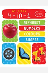 My First 4in1 Alphabets, Numbers, Colours, Shape (Padded Board Book) Kindle Edition