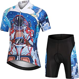 Kinder Fahrradbekleidung Kurzarm Radtrikot and Radsport Shorts Gepolstert Set