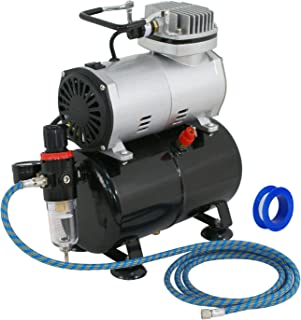 ZENY Pro 1/5 HP Airbrush Air Compressor Airbrushing Kit w/ 3L Tank and 6FT Hose Multipurpose for Hobby Paint Cake Tattoo Nail
