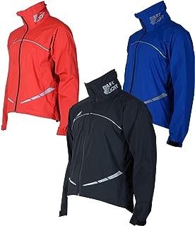 Zimco Waterproof Cycling Rain Jacket High Viz Showerproof Jacket Windproof